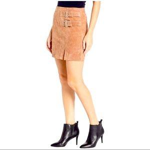 NWT Blank NYC Leather Hazelnut Mini Skirt Size 30